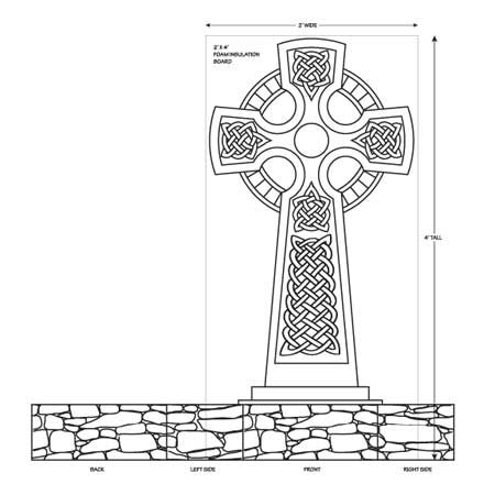 A haunted halloween projects celtic cross other for Tombstone templates for halloween